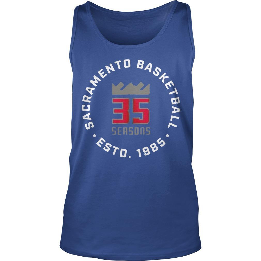 35 Seasons Sacramento Basketball Esto 1985 Tank Top