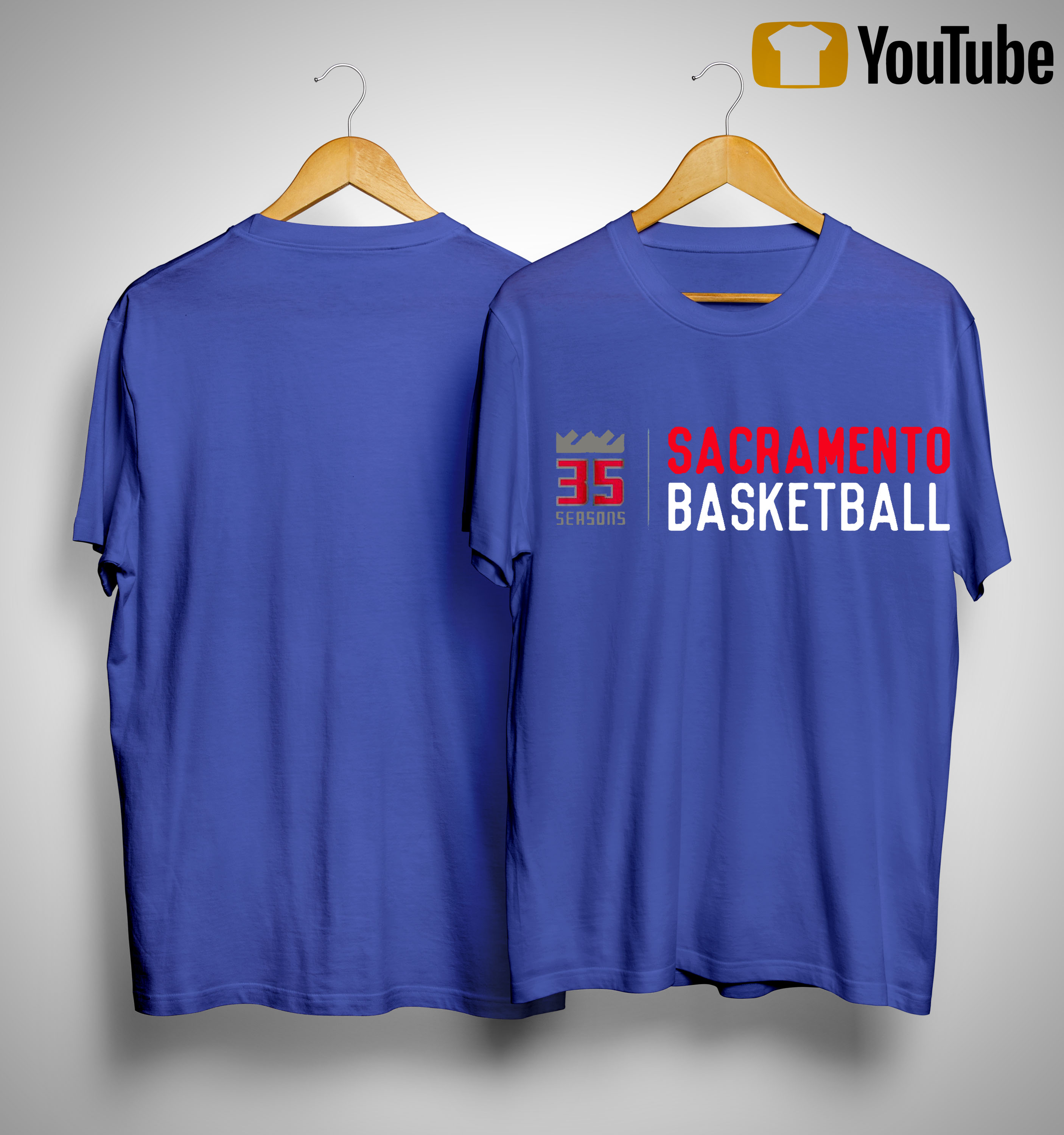 35 Seasons Sacramento Basketball Shirt