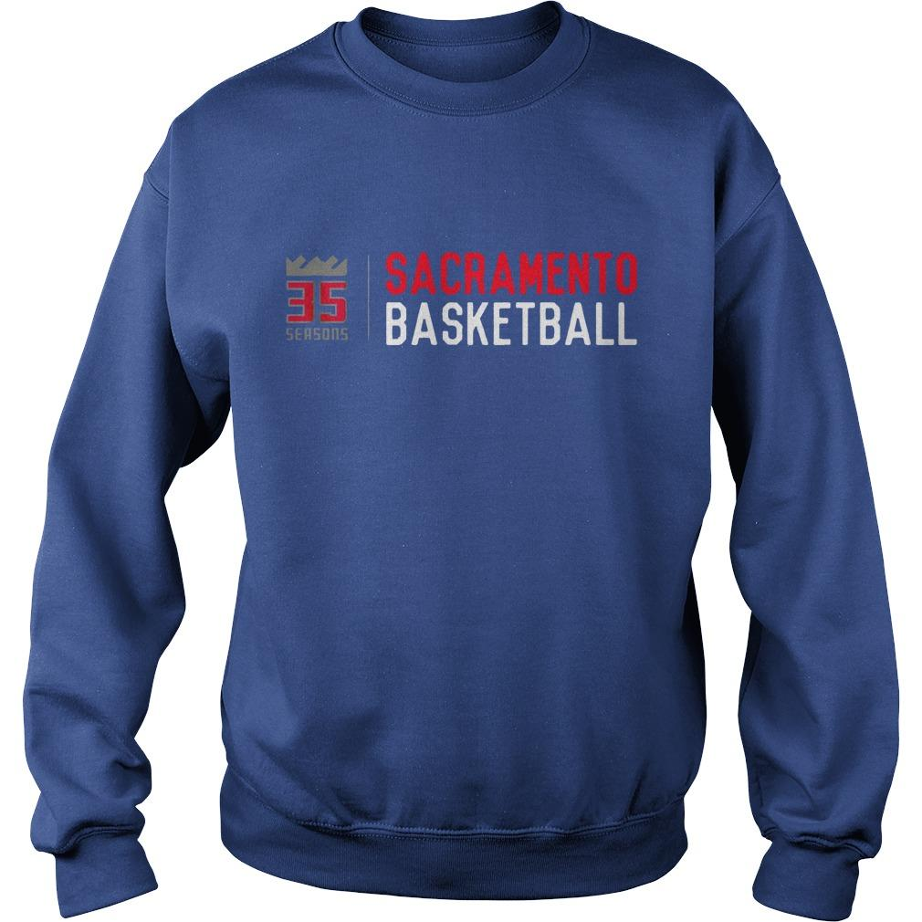 35 Seasons Sacramento Basketball Sweater