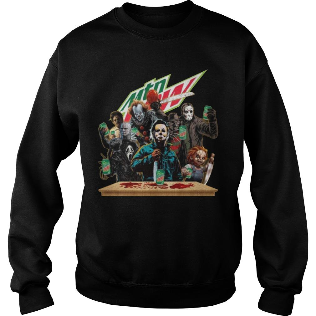 Horror Characters Mountain Dew Sweater