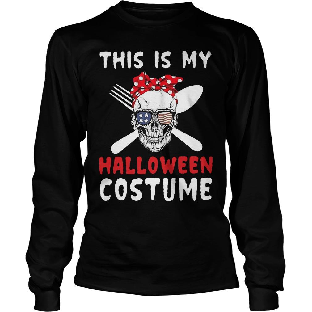 Skull This Is My Halloween Costume Longsleeve
