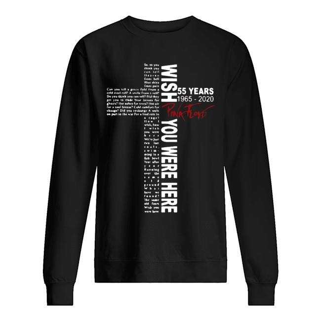 55 Years 1965 2020 Pink Floyd Wish You Were Here Sweater
