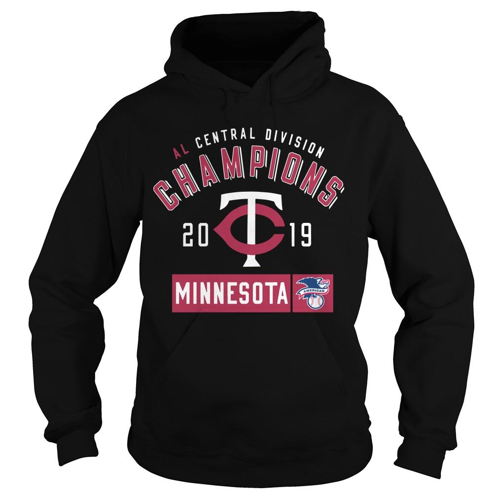 Al Central Division Champions 2019 Minnesota Twins Hoodie