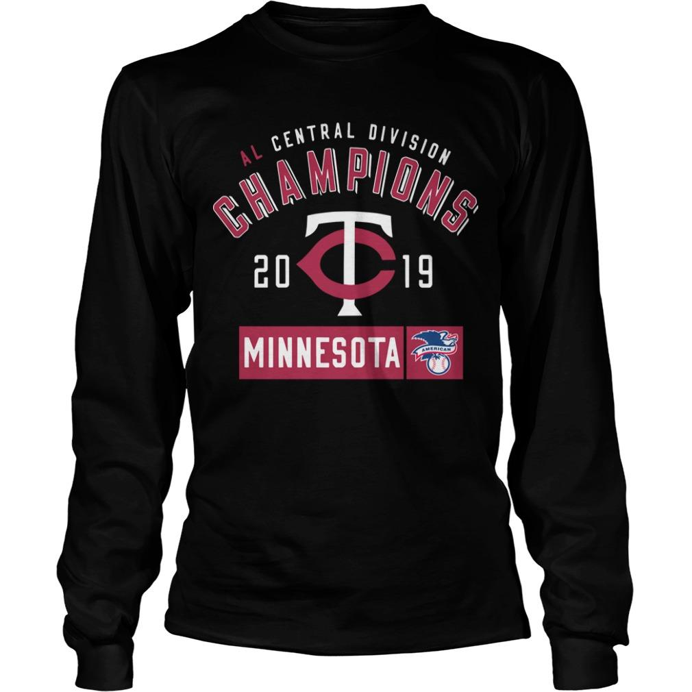 Al Central Division Champions 2019 Minnesota Twins Longsleeve