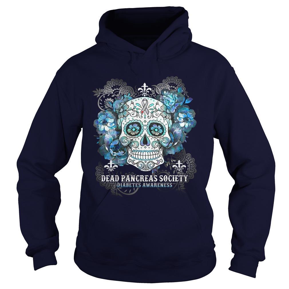 Hippie Skull Dead Pancreas Society Diabetes Awareness Hoodie