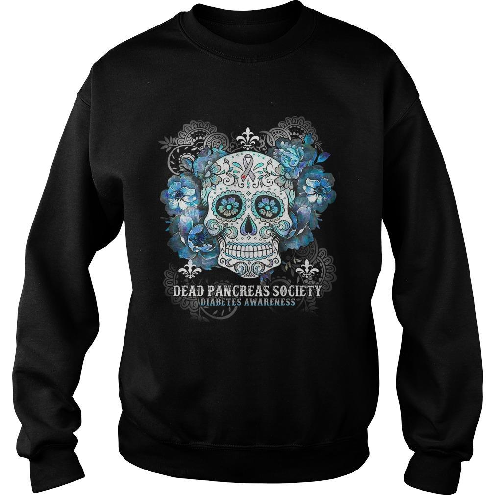 Hippie Skull Dead Pancreas Society Diabetes Awareness Sweater