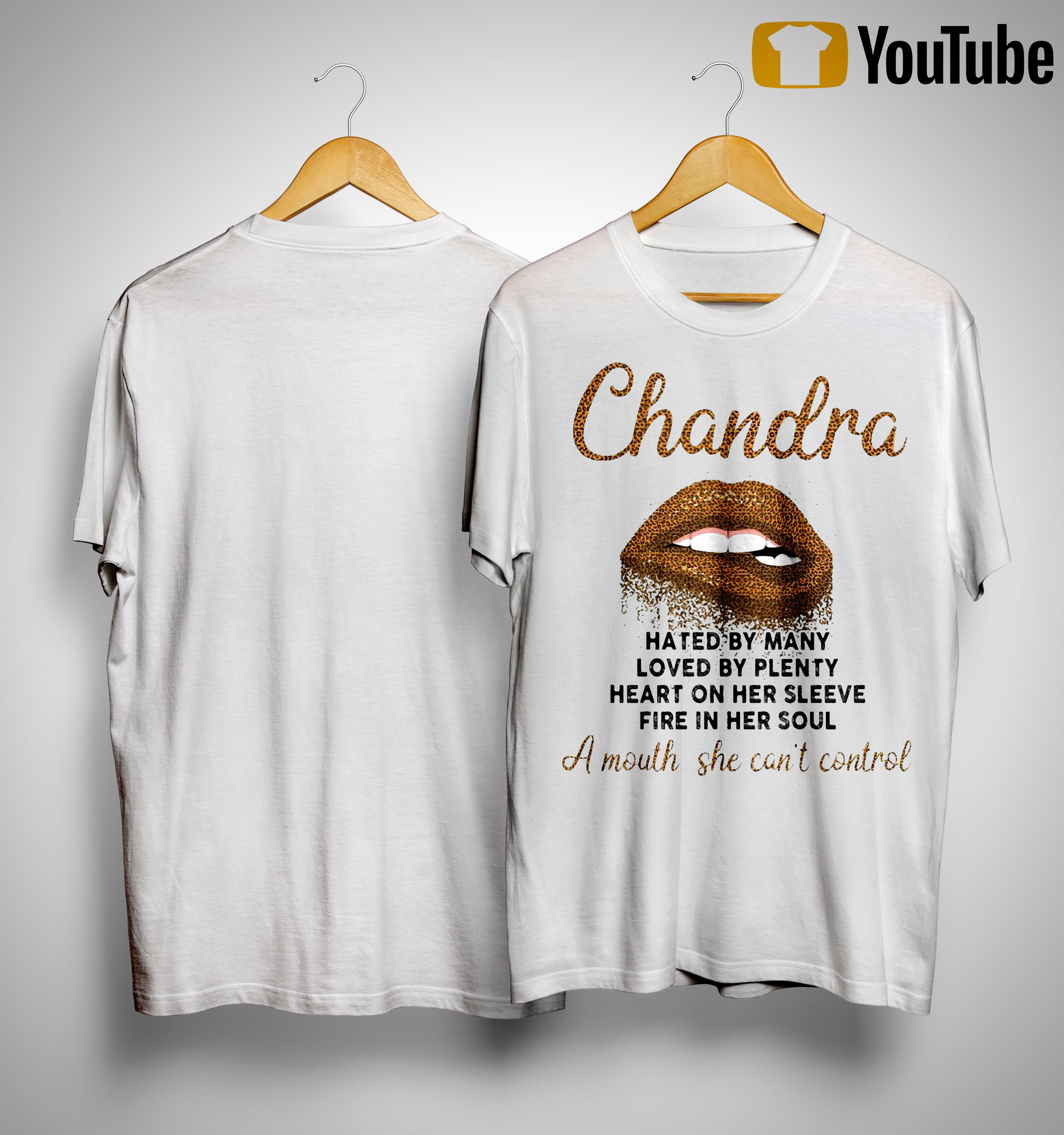 Lips Chandra Hated By Many Loved By Plenty Heart On Her Sleeve Shirt