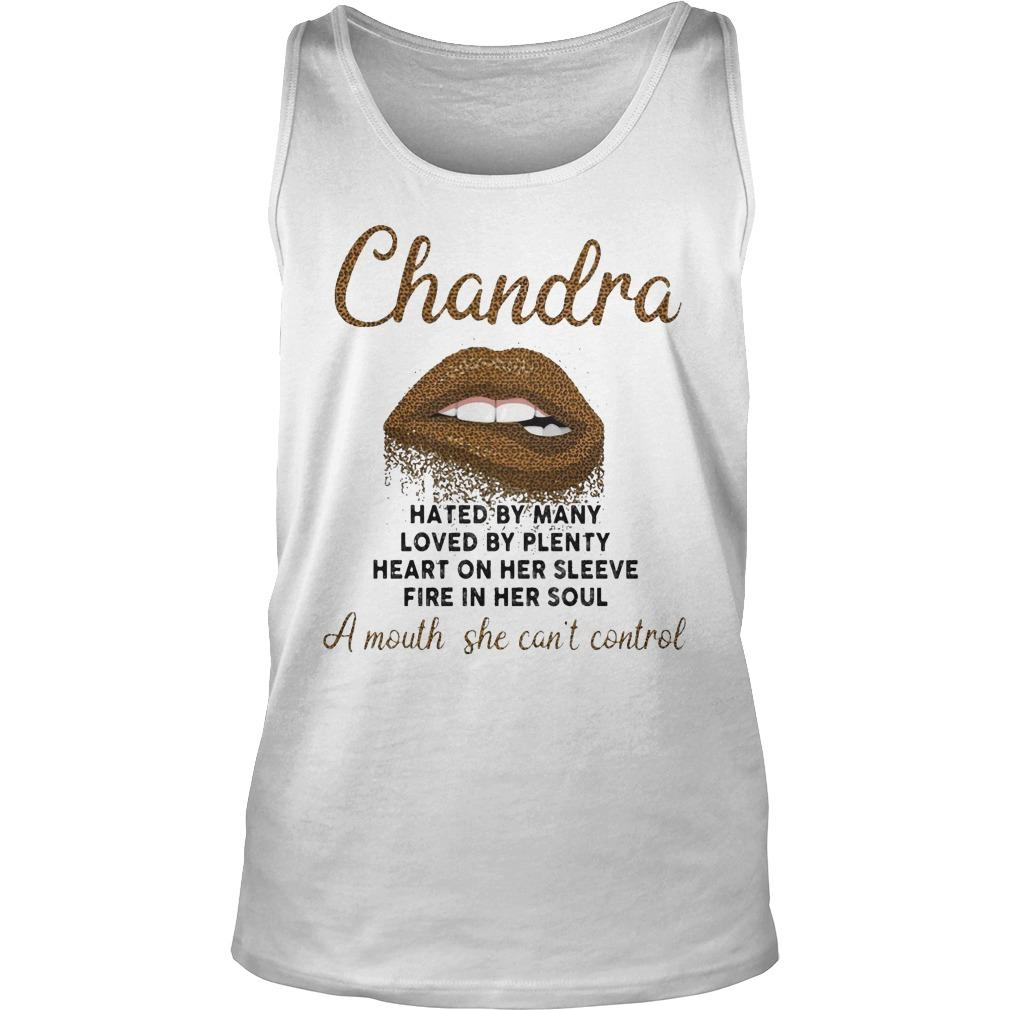 Lips Chandra Hated By Many Loved By Plenty Heart On Her Sleeve Tank Top