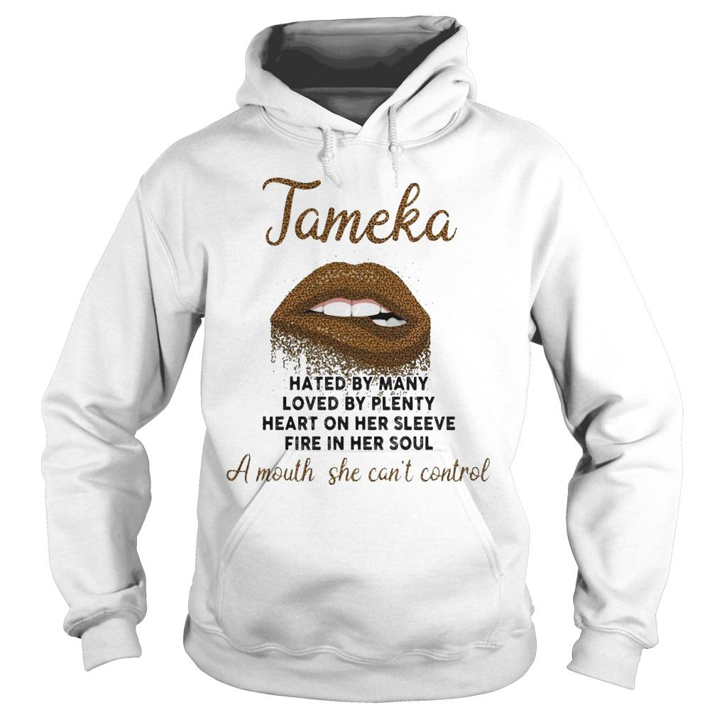 Lips Tamela Hated By Many Loved By Plenty Heart On Her Sleeve Hoodie