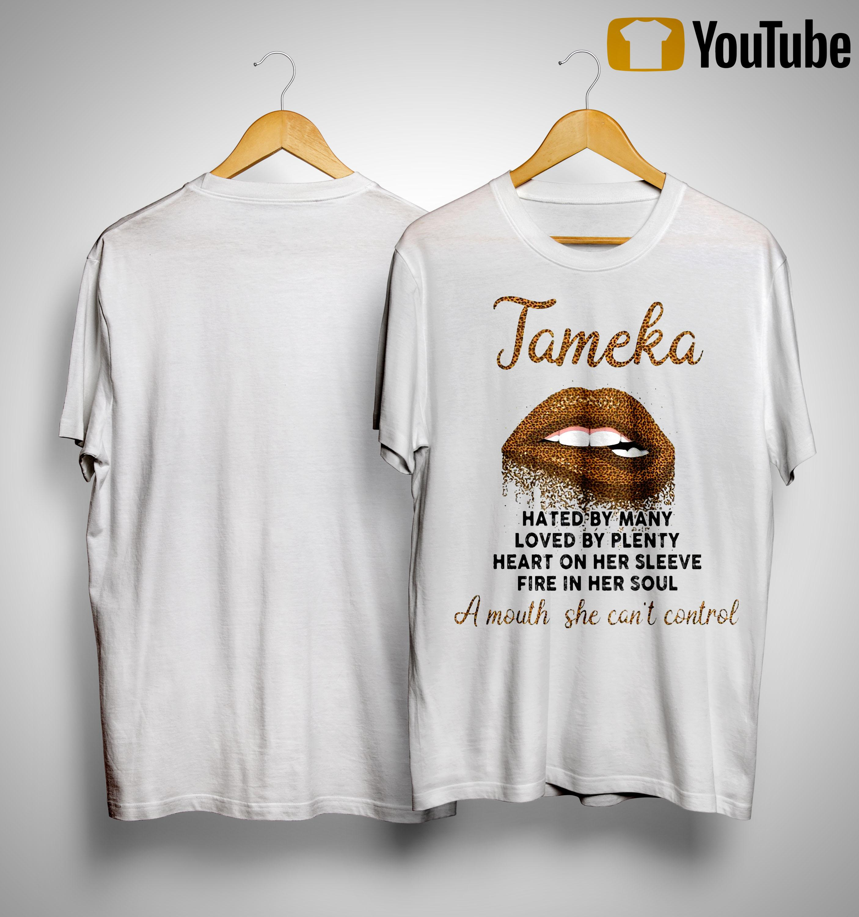 Lips Tamela Hated By Many Loved By Plenty Heart On Her Sleeve Shirt
