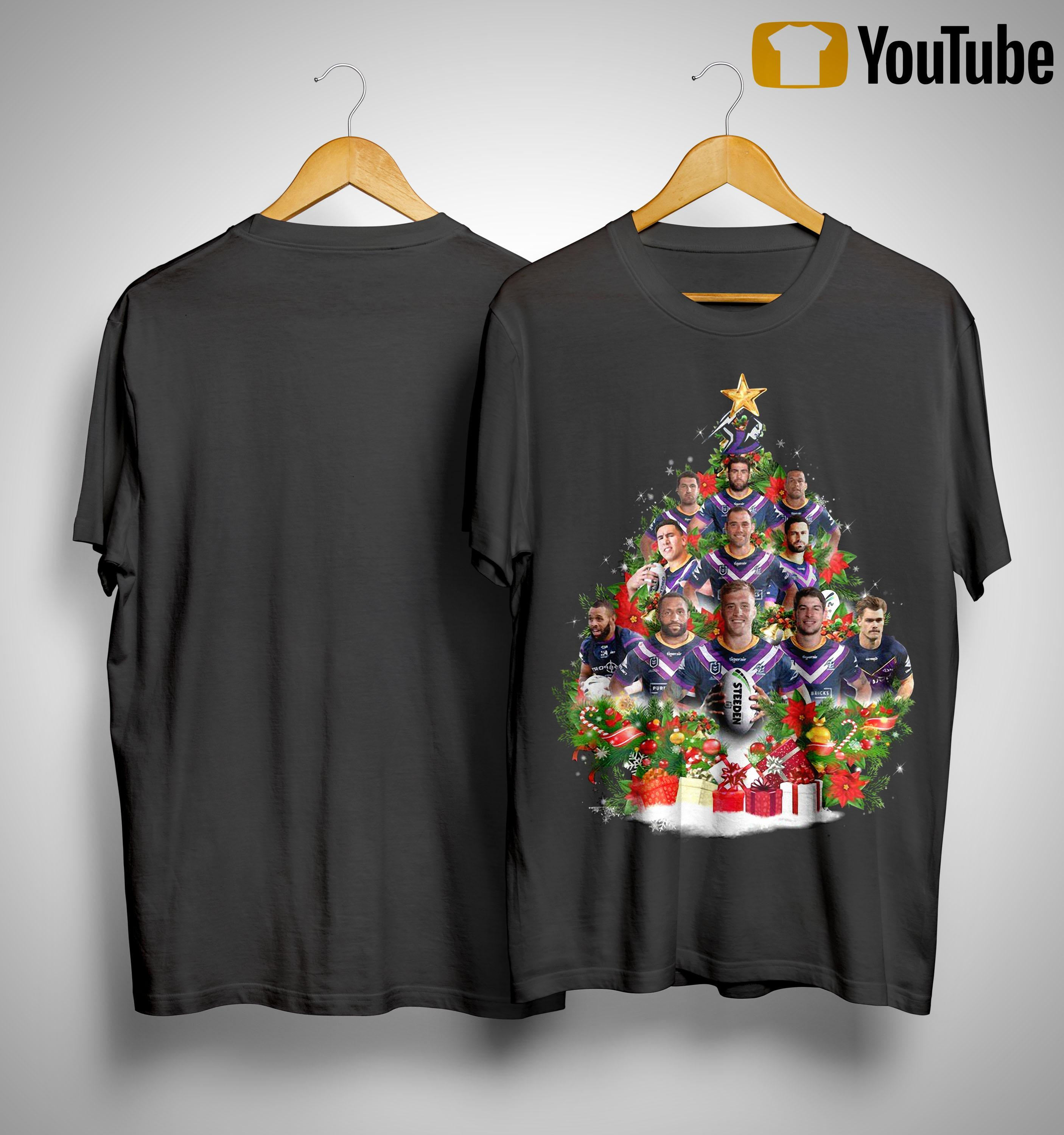Christmas Trees Melbourne: Melbourne Storm Christmas Tree Shirt, Sweater And Hoodie
