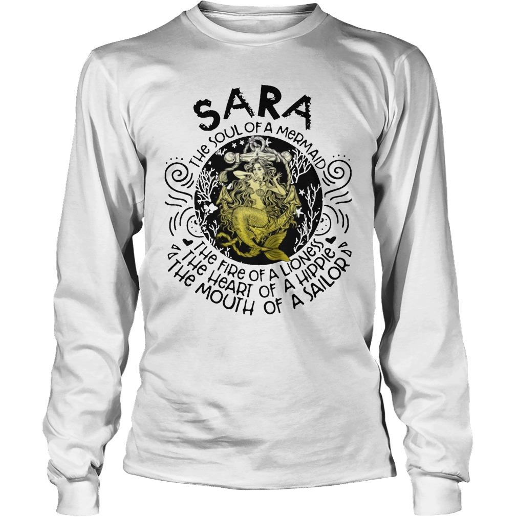 Sara The Soul Of A Mermaid The Fire Of A Lioness Heart Of Hippie Longsleeve