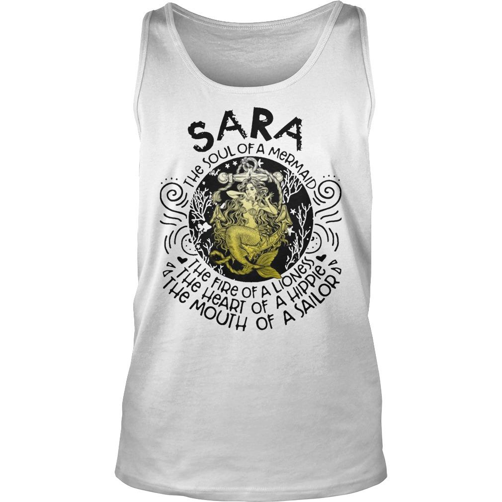 Sara The Soul Of A Mermaid The Fire Of A Lioness Heart Of Hippie Tank Top