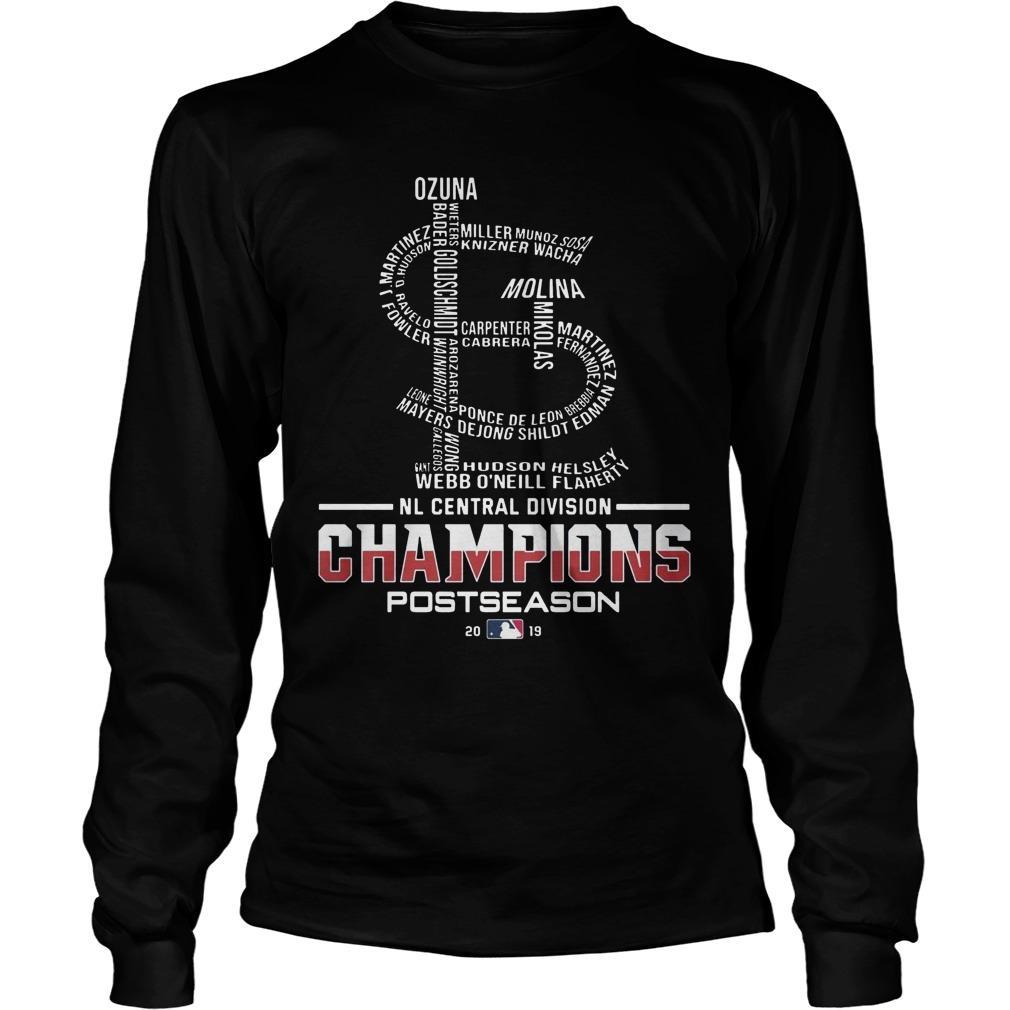 St Louis Nl Central Division Champions Postseason Longsleeve