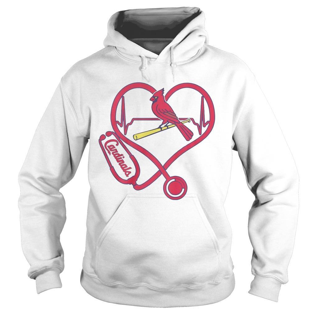 Stethoscope Heart St. Louis Cardinals Hoodie