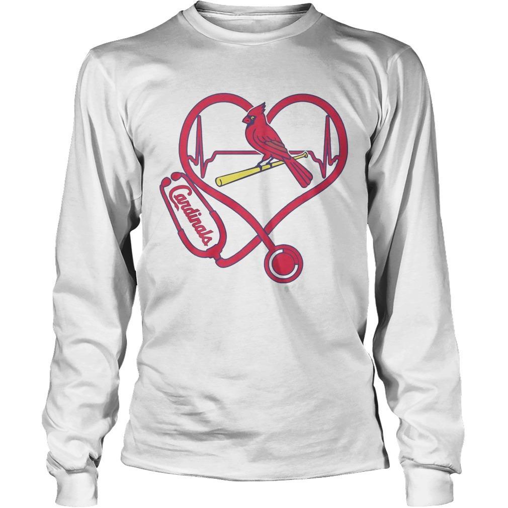 Stethoscope Heart St. Louis Cardinals Longsleeve