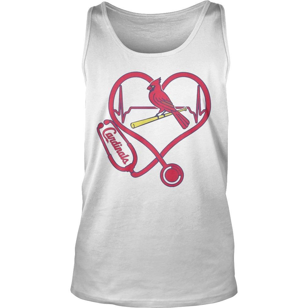 Stethoscope Heart St. Louis Cardinals Tank Top