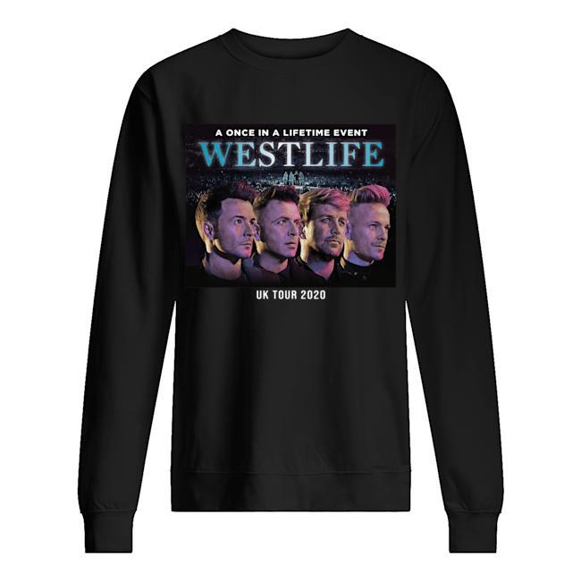 A Once In A Lifetime Event Westlife Uk Tour 2020 Sweater
