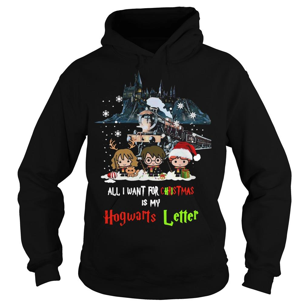 All I Want For Christmas Is My Hogwarts Letter Harry Potter T Hoodie