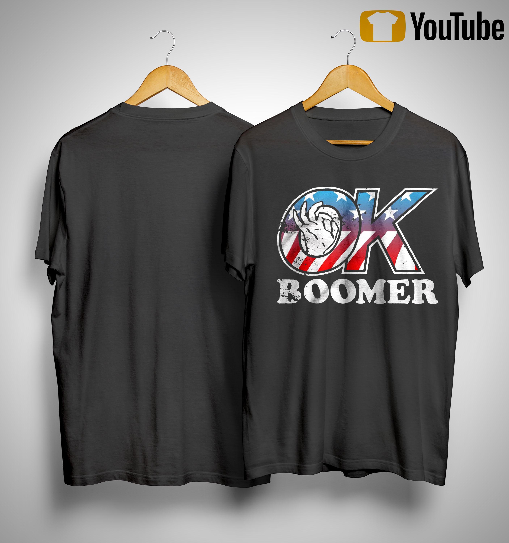 American Flag Ok Boomer Shirt