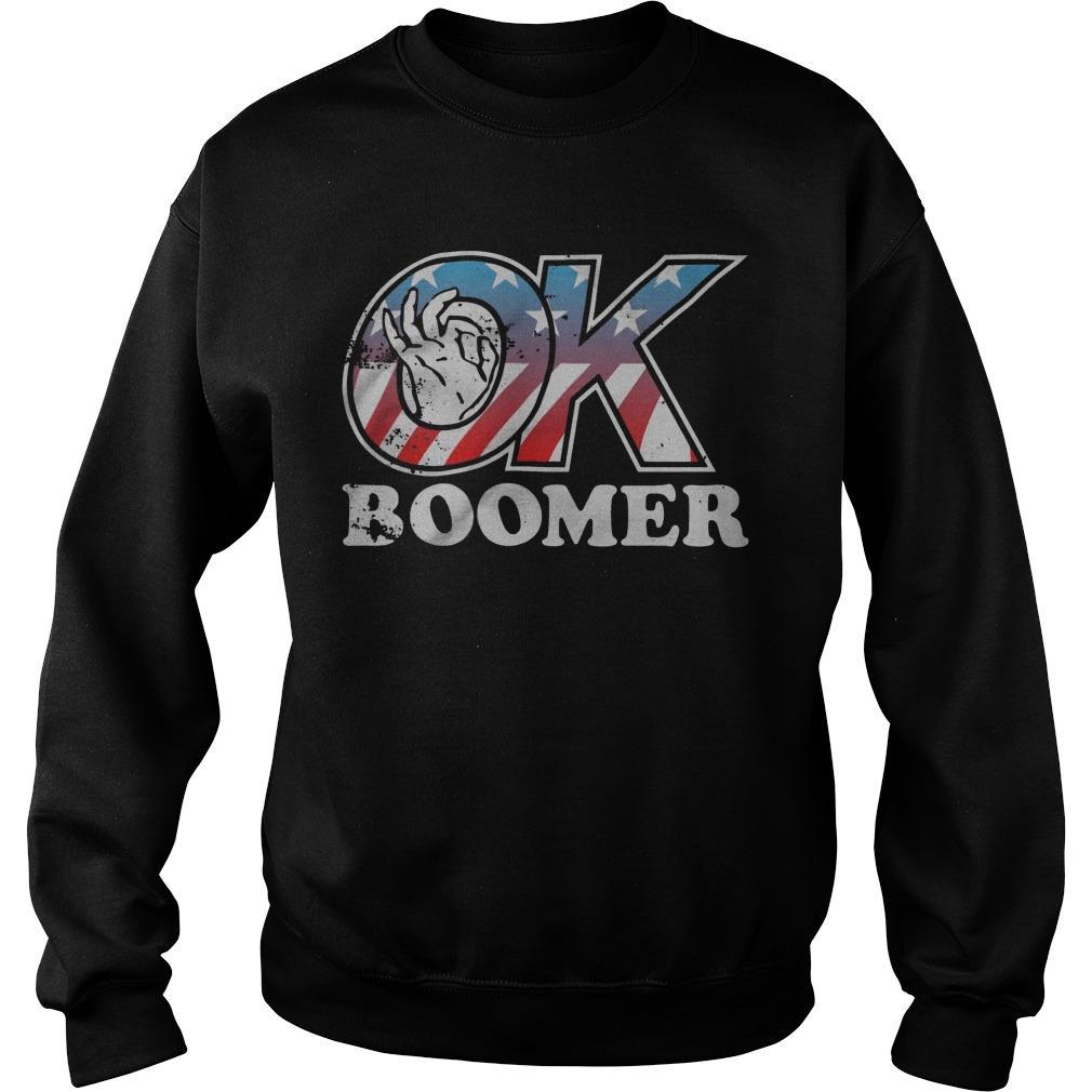 American Flag Ok Boomer Sweater