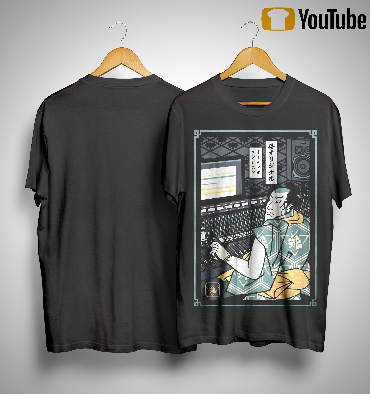 Audio Engineer Samurai Shirt