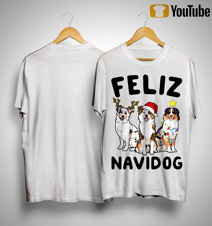 Australian Shepherd Feliz Navidog Shirt