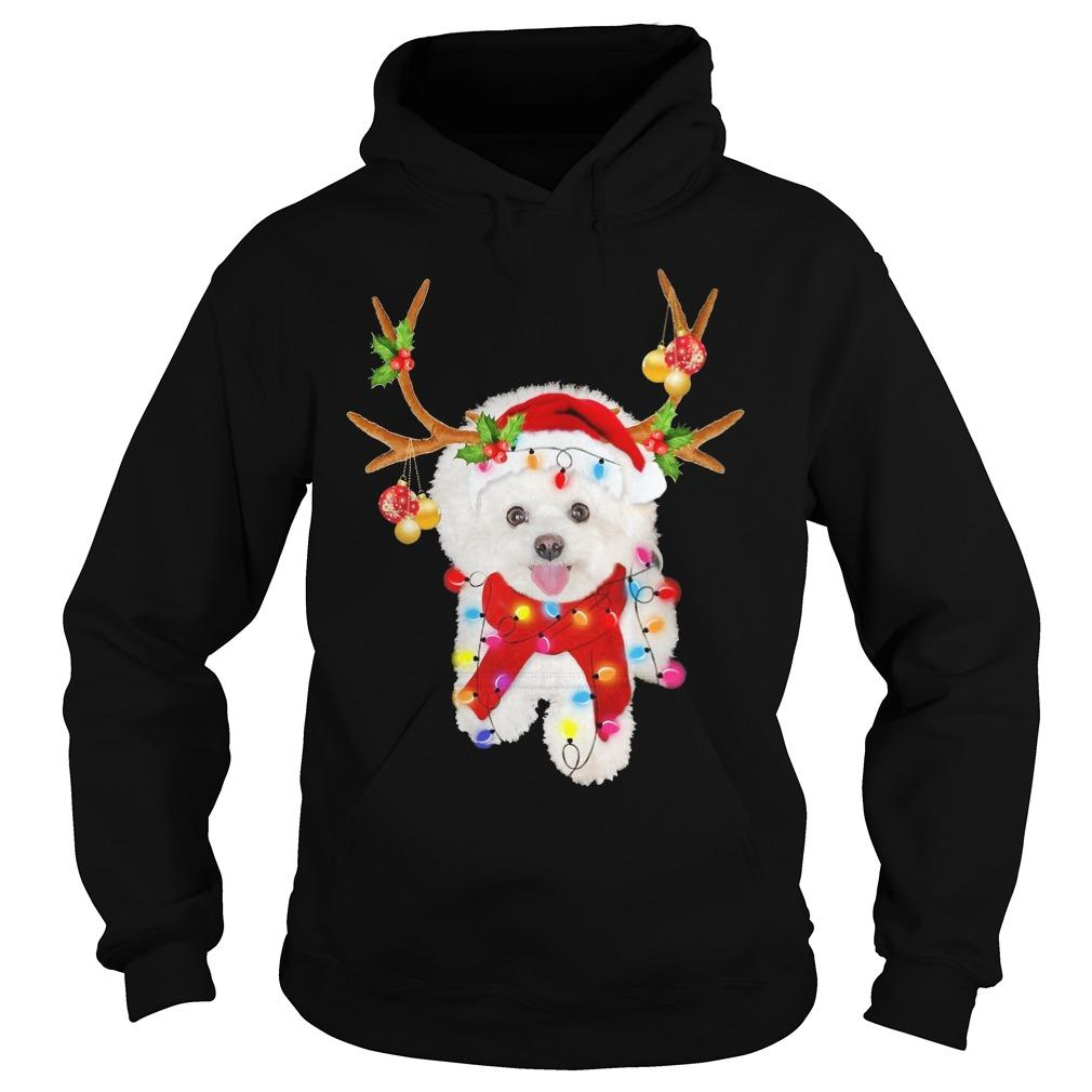 Bichon Frise Gorgeous Reindeer Hoodie