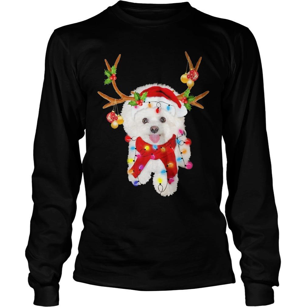 Bichon Frise Gorgeous Reindeer Longsleeve