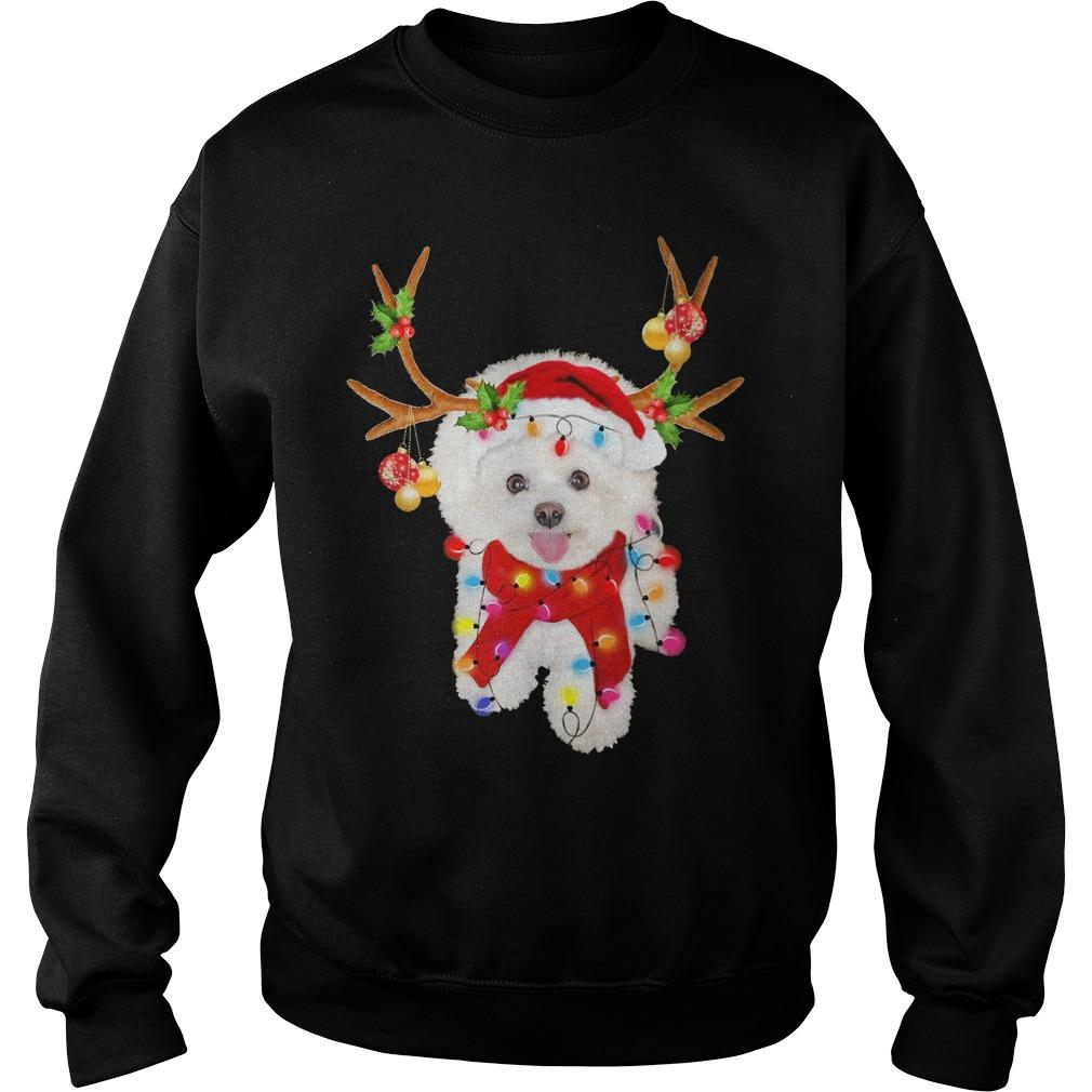 Bichon Frise Gorgeous Reindeer Sweater