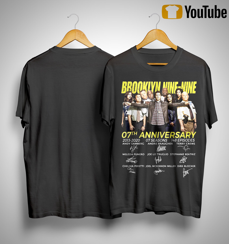 Brooklyn Nine Nine 07th Anniversary Signatures Shirt