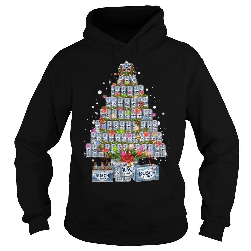 Busch Light Christmas Tree Hoodie