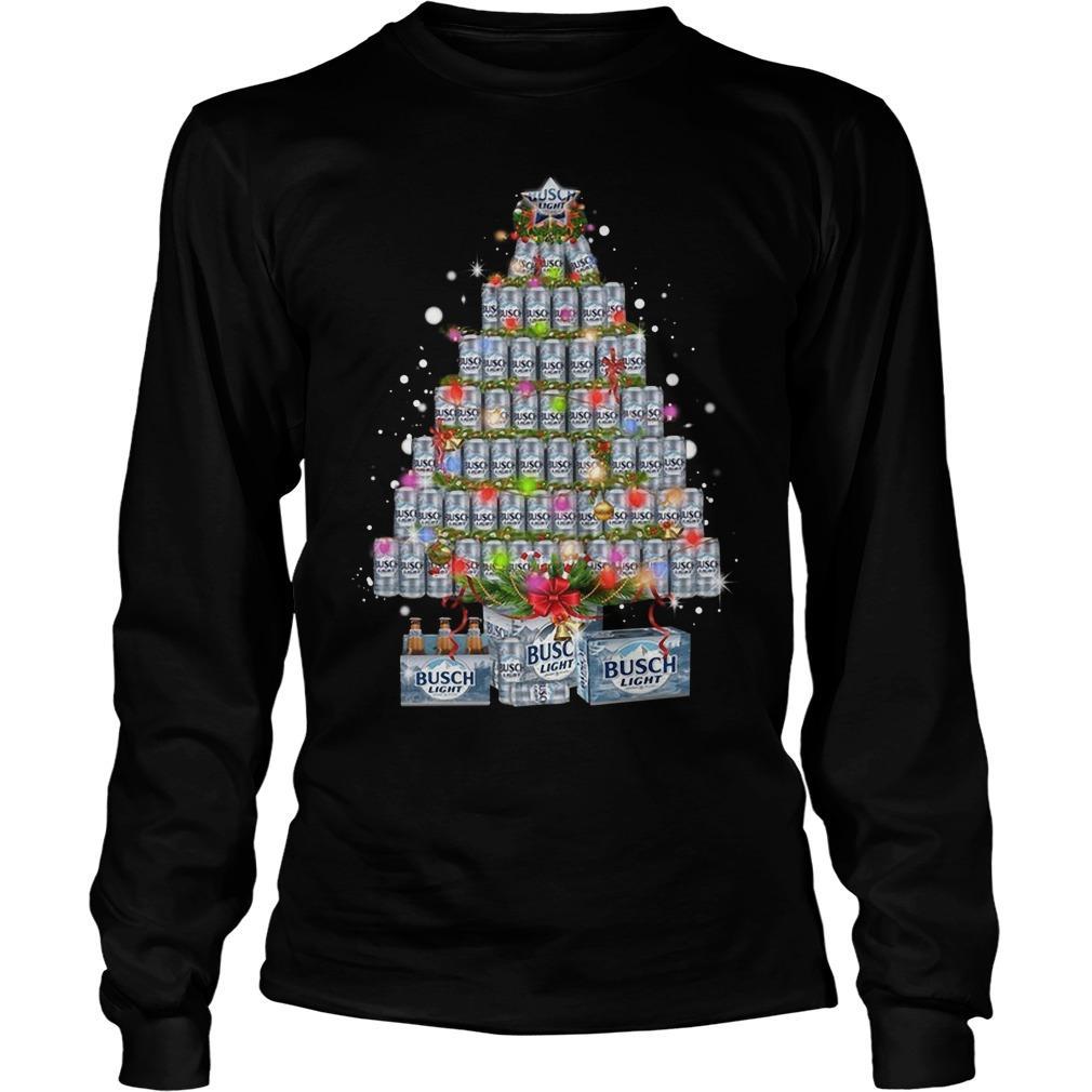 Busch Light Christmas Tree Longsleeve