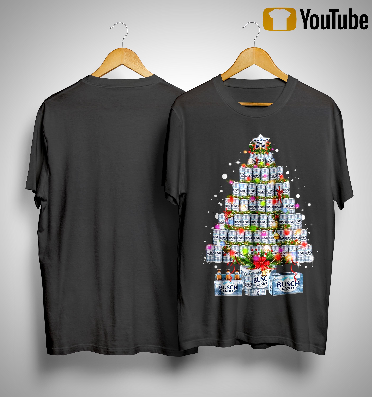 Busch Light Christmas Tree Shirt