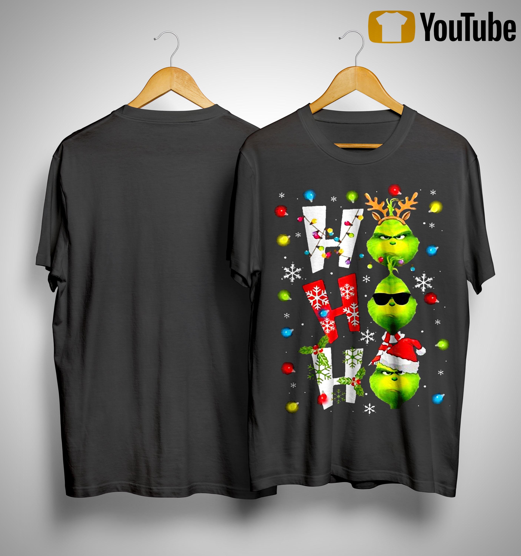 Christmas Grinch Ho Ho Ho Shirt