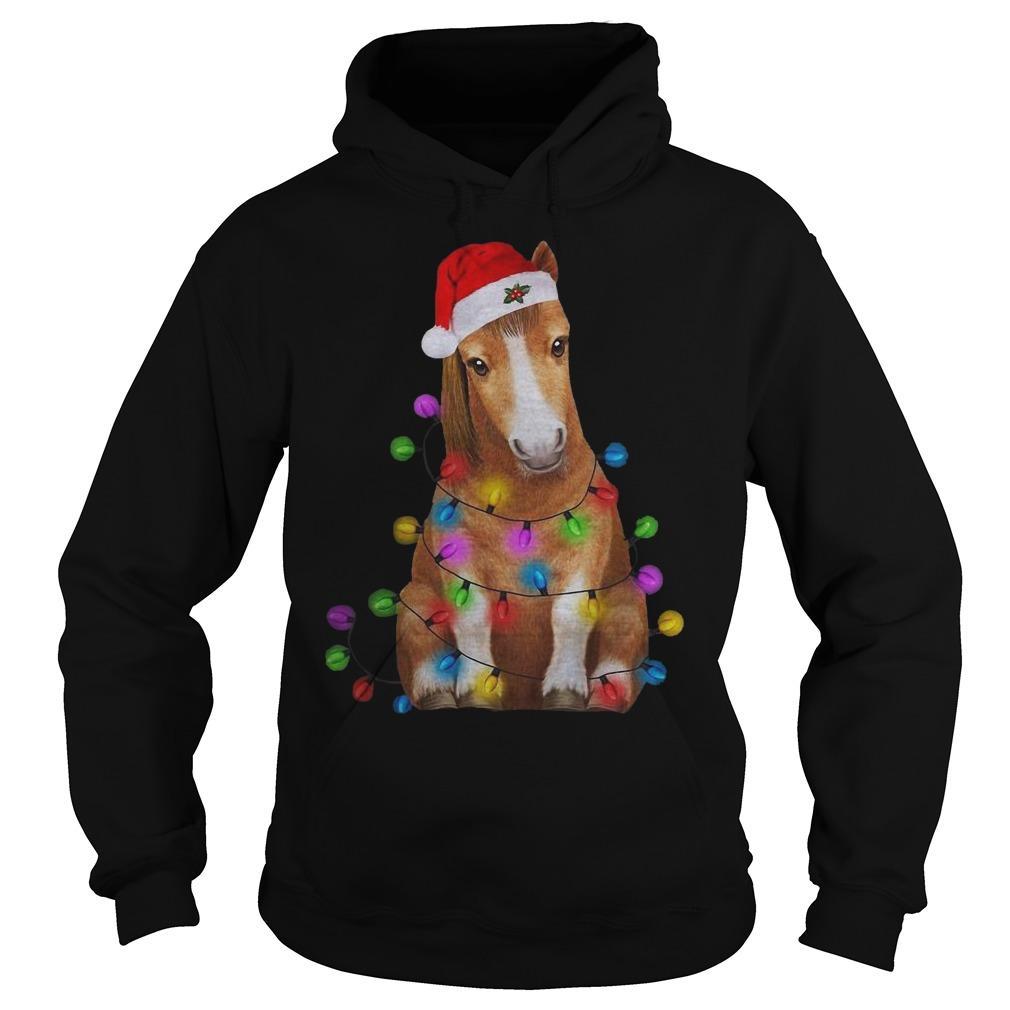 Christmas Light Baby Horse Hoodie