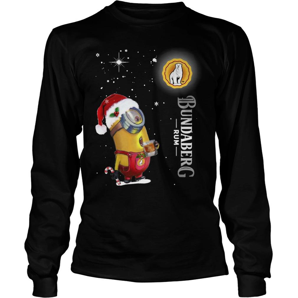 Christmas Minion Bundaberg Rum Longsleeve
