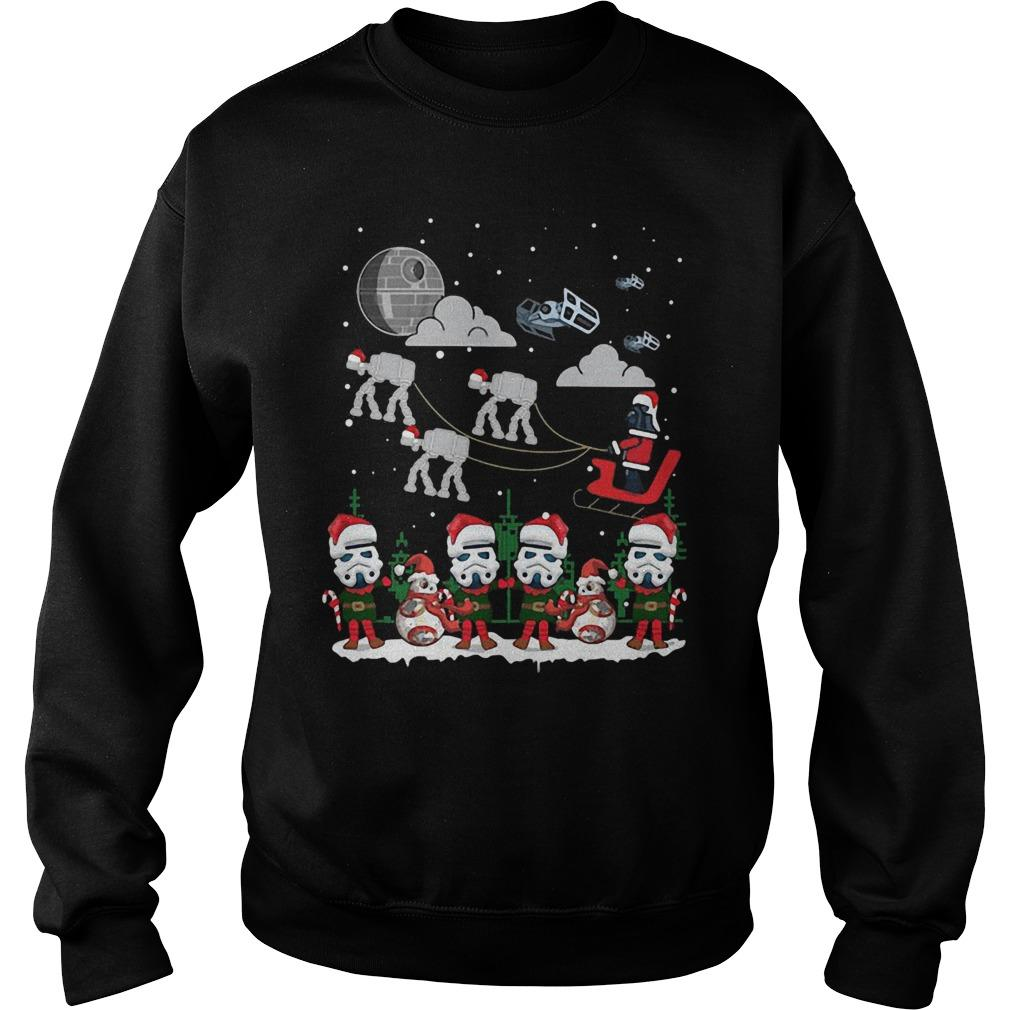 Christmas Star Wars Under Snow Sweater