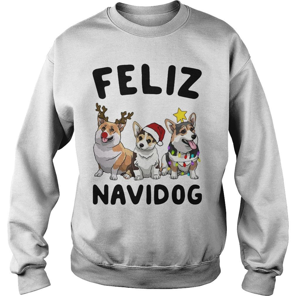 Corgi Feliz Navidog Sweater