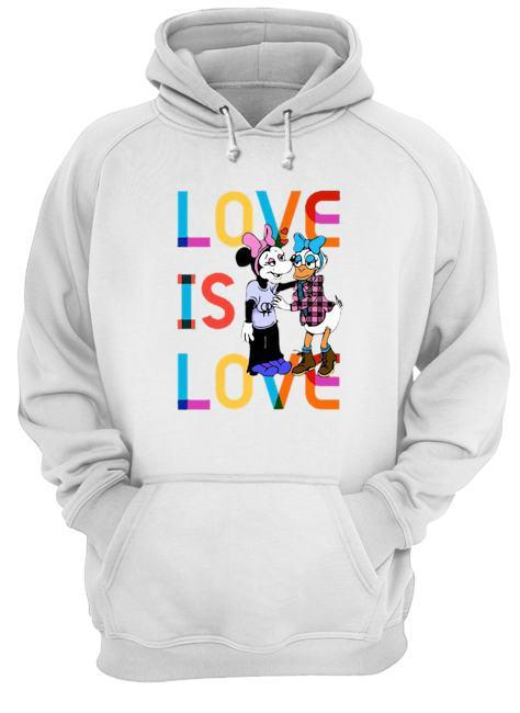 Donald And Minnie Love Is Love T Hoodie