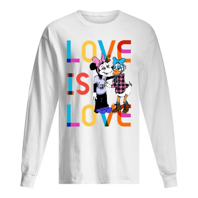 Donald And Minnie Love Is Love T Longsleeve