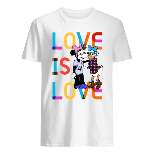 Donald And Minnie Love Is Love T Shirt