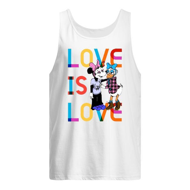 Donald And Minnie Love Is Love T Tank Top