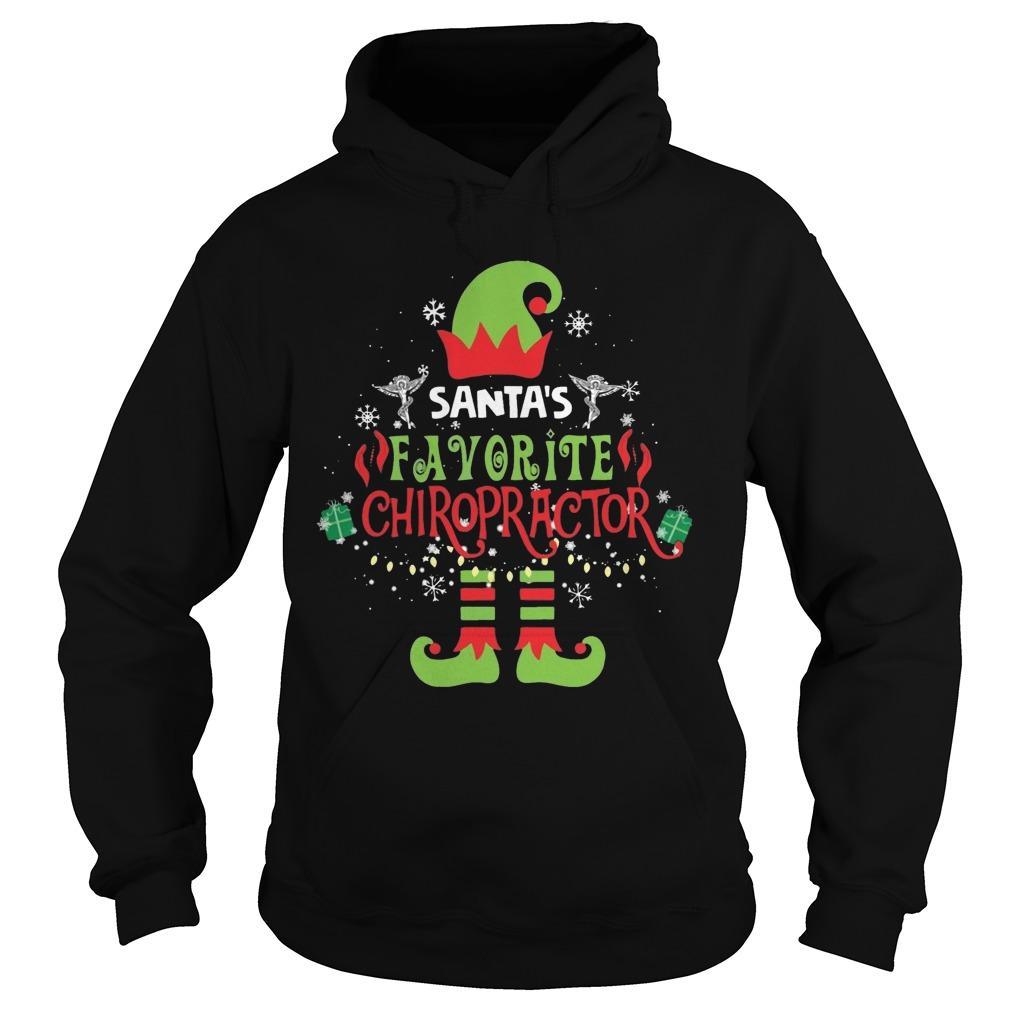 Elf Santa's Favorite Chiropractor Hoodie