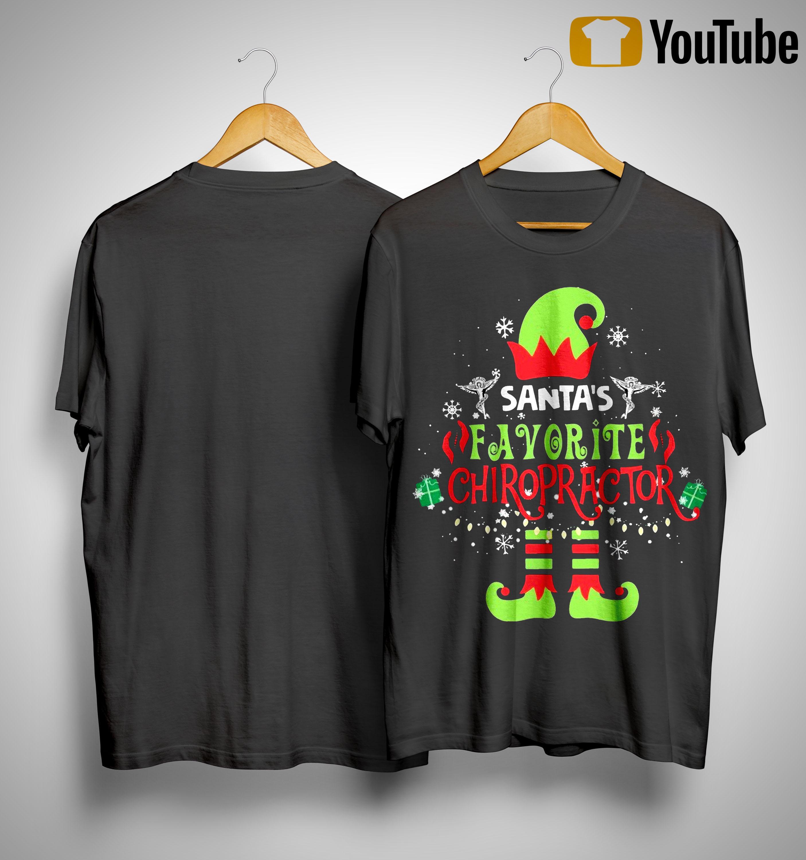 Elf Santa's Favorite Chiropractor Shirt