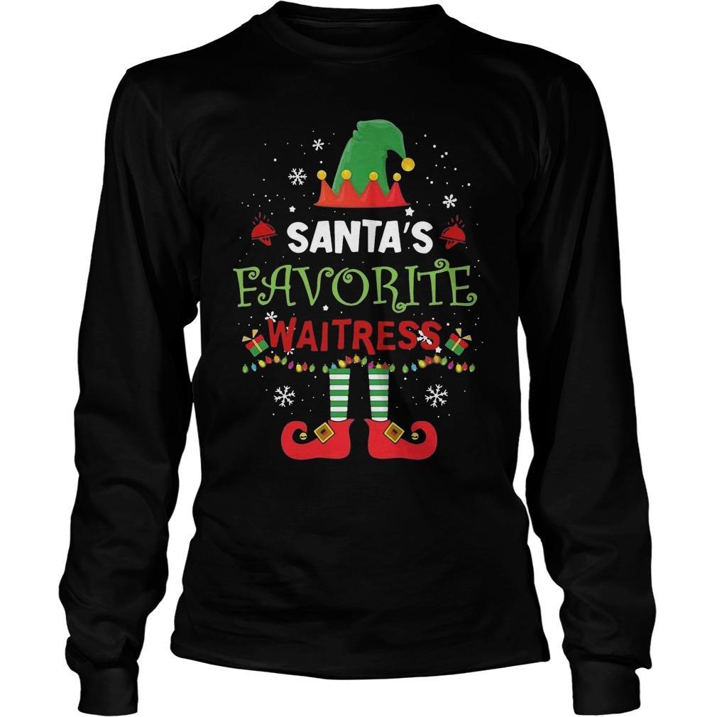 Elf Santa's Favorite Waitress Longsleeve