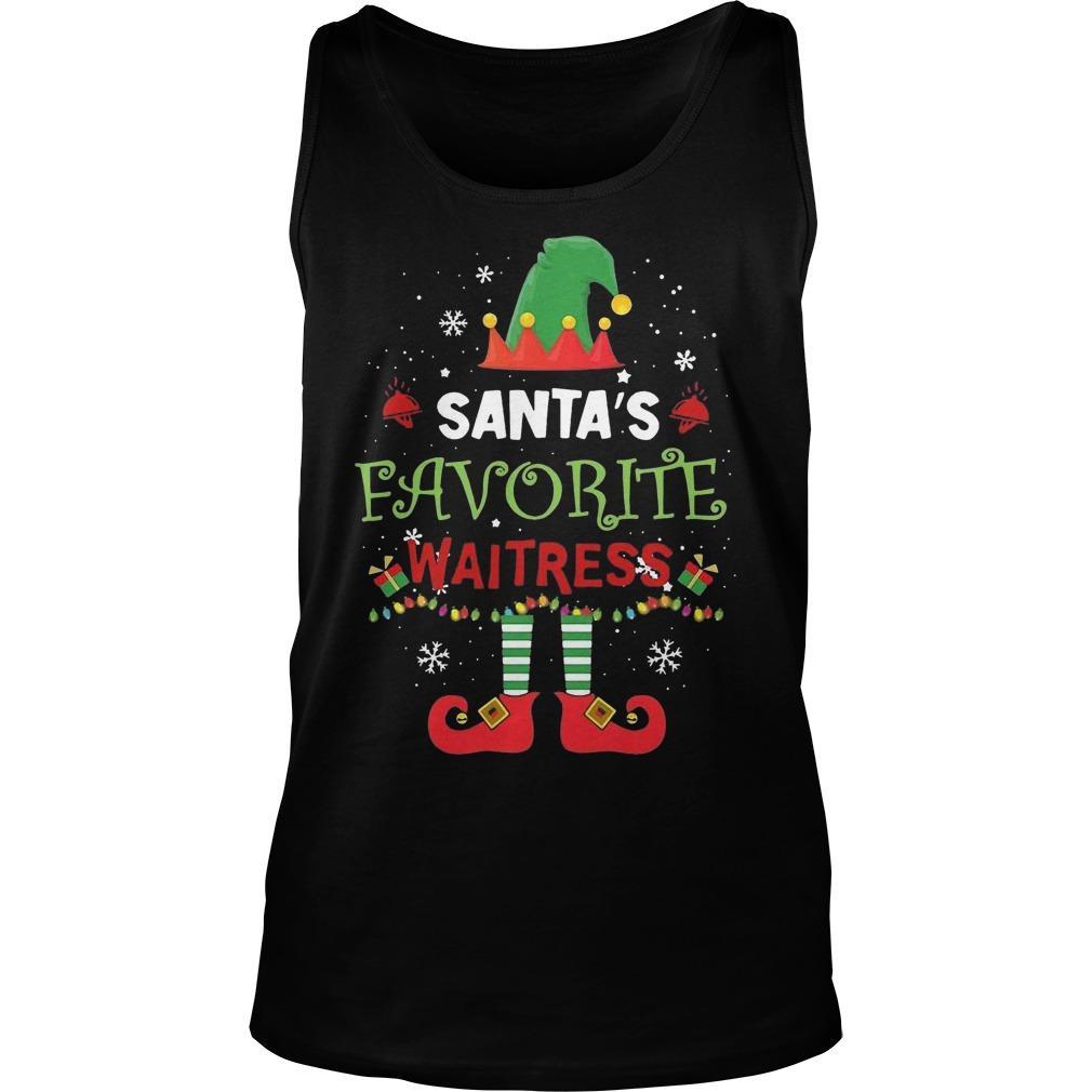 Elf Santa's Favorite Waitress Tank Top
