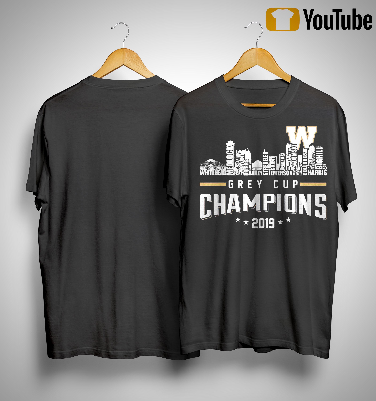 Grey Cup Champions 2019 Shirt