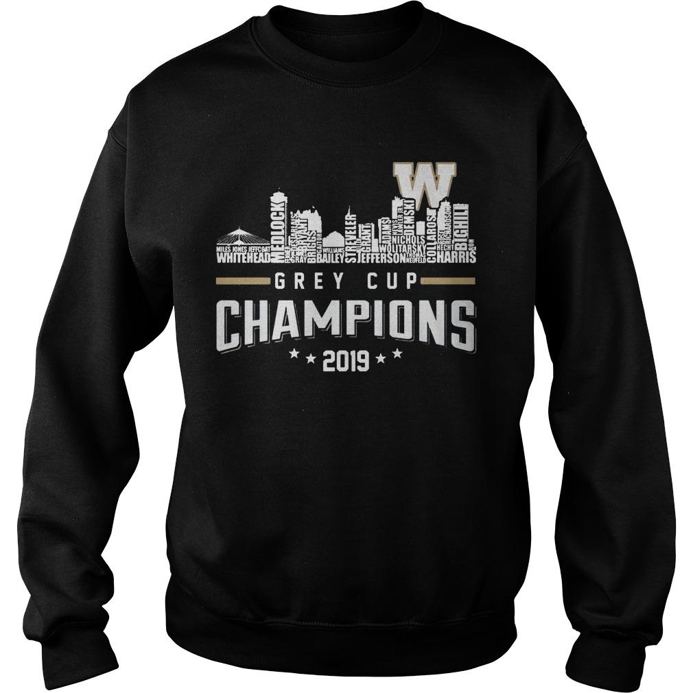 Grey Cup Champions 2019 Sweater