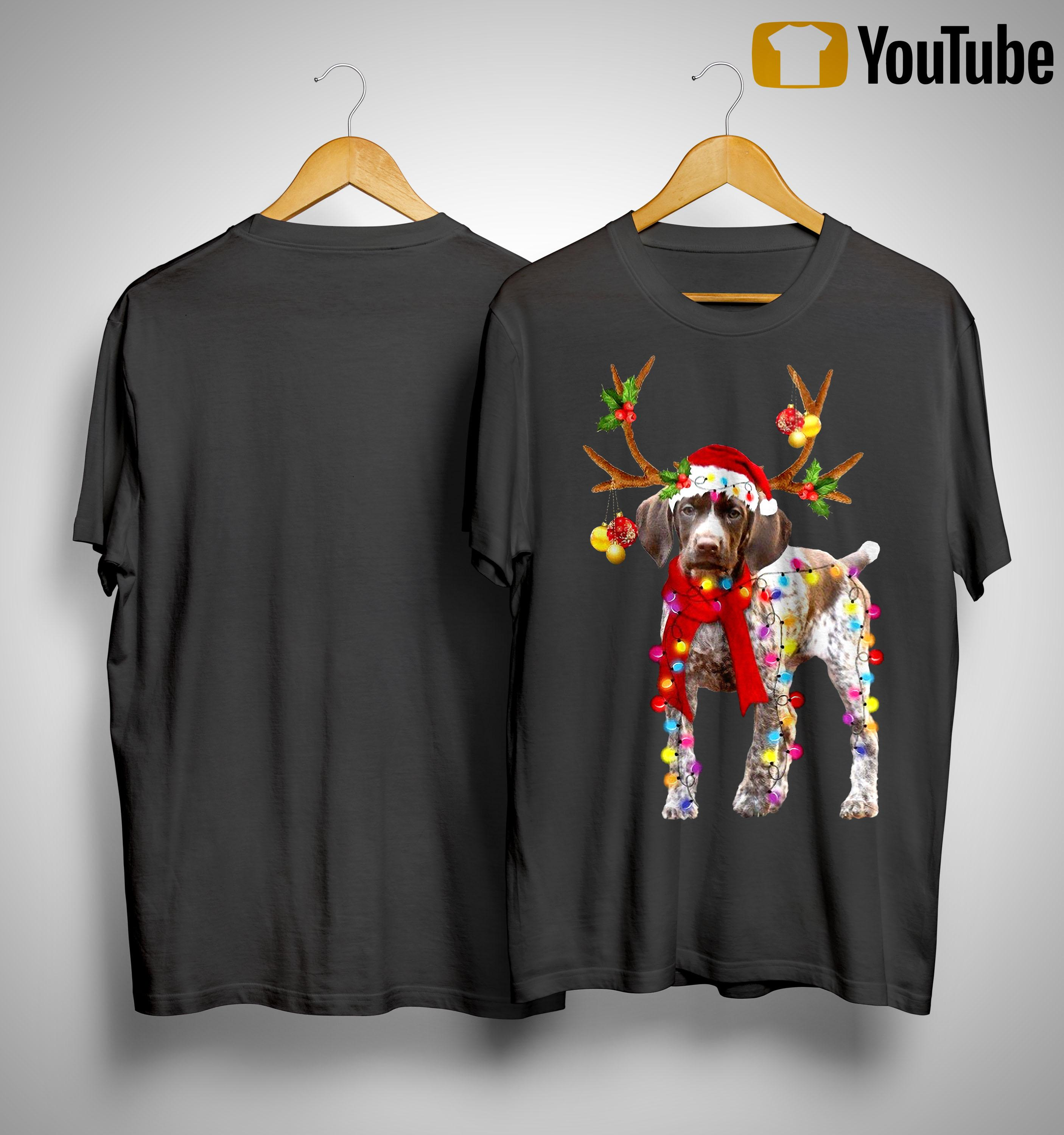 Gsp Reindeer Christmas Light Shirt